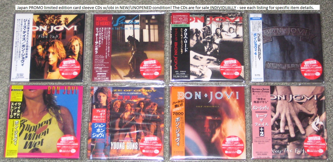 Bon Jovi New Jersey Card P/S Promo CD