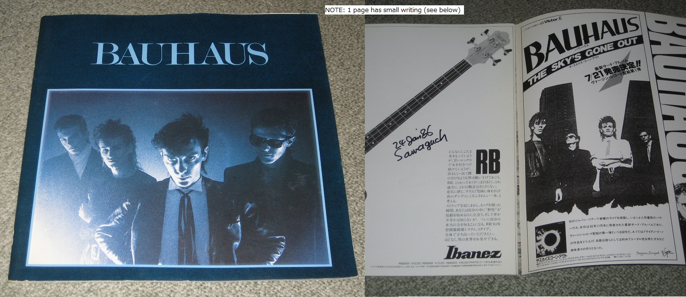 Japan 1983 Tour Book