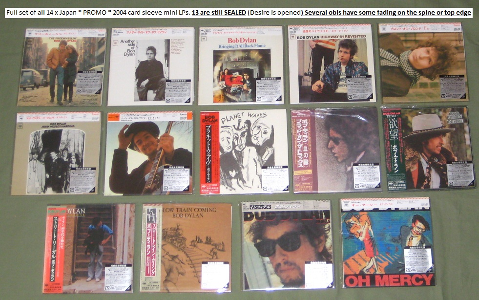 Dylan,Bob 14 X Jap Promo Card Sleeve Cds BOX