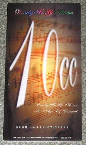 10cc Ready To Go Home CD:3''SINGLE