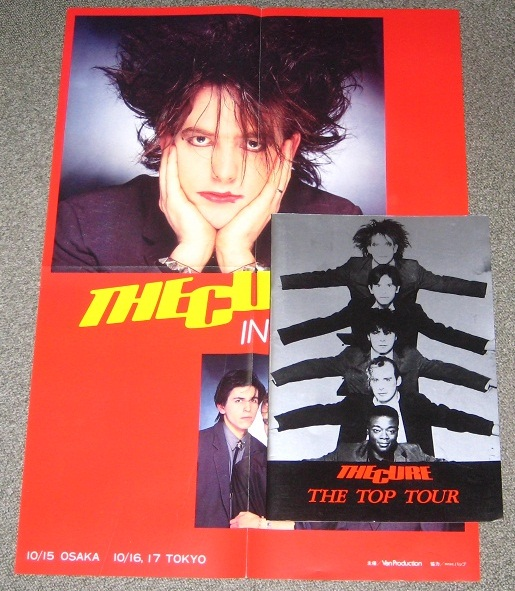 Cure - Japan 1984 Tour Book + Poster Record