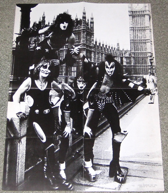 Kiss Uk Original 1970s Poster POSTER
