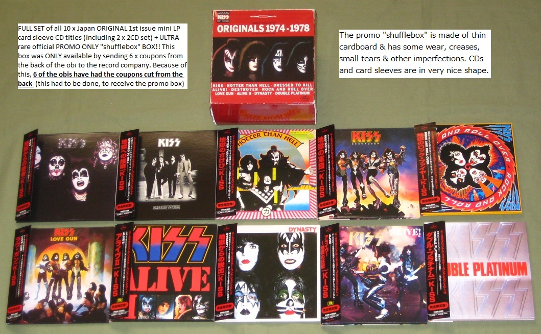 KISS - 10 x card p/s CD + SHUFFLEBOX! - CD Box
