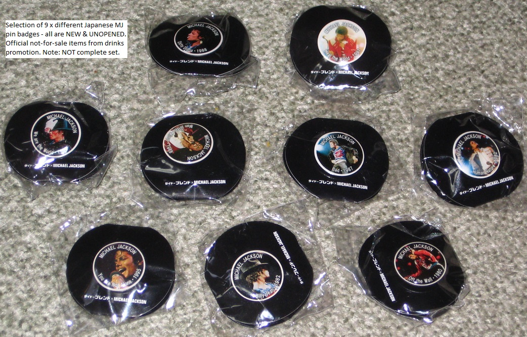 9 X Japan Not For Sale Badges