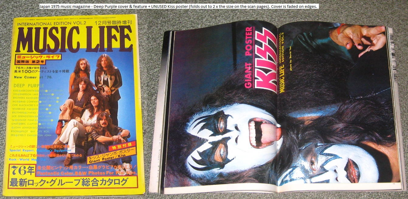 Kiss Music Life Dec 1975 Int Edn MAGAZINE