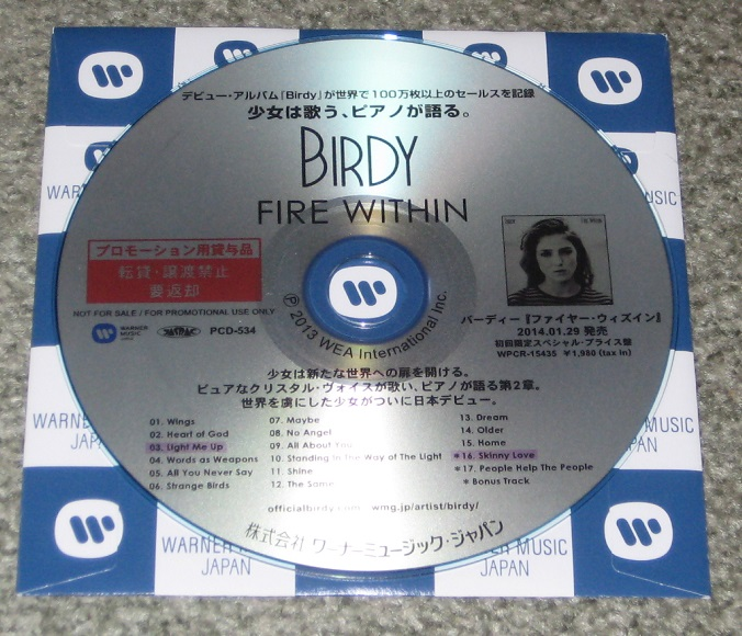 Fire within by Birdy, CD with tokyomusic