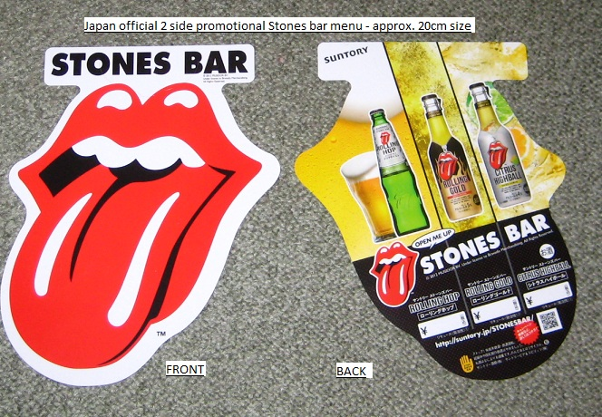 Rolling Stones - Stones Bar Shaped Display
