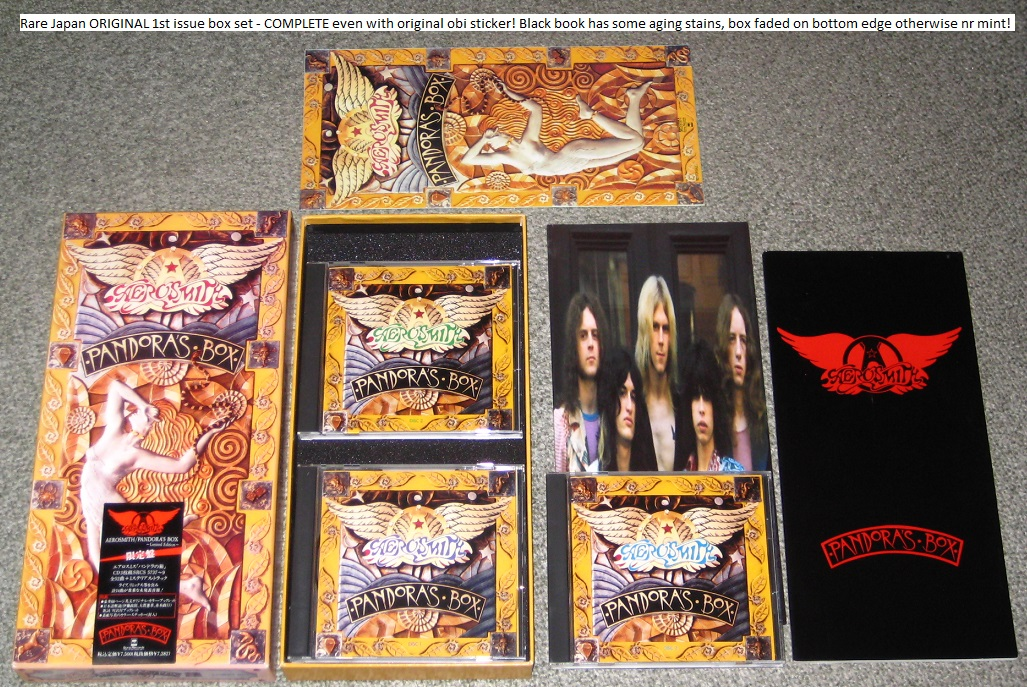 Aerosmith Pandoras Box 1st Issue Complet BOX