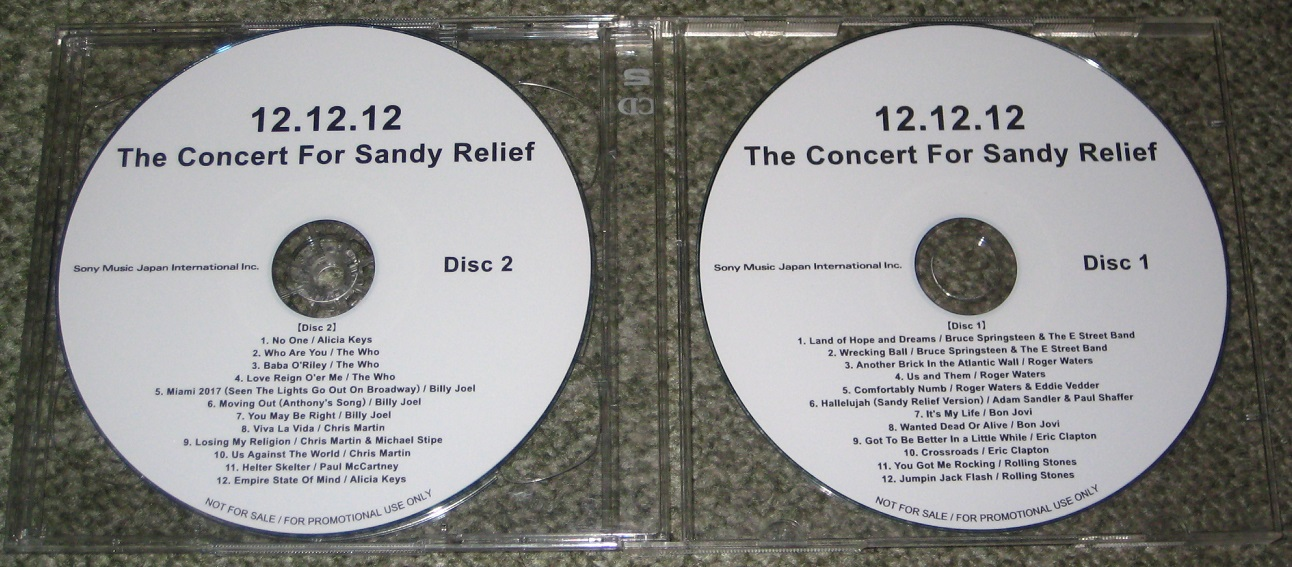 Beatles (Paul McCartney) - Concert For Sandy Relief 2xcdr