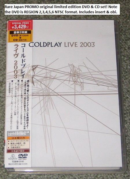 Coldplay - Live 2003 Dvd + Cd Set