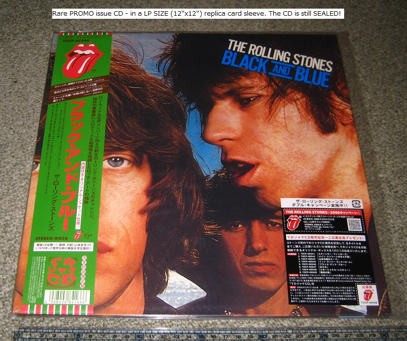 Rolling Stones - Black And Blue - Lp Size P/s
