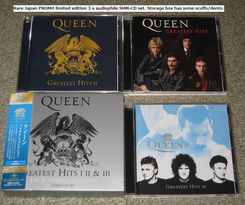 Platinum Collection 3 X Shm Cd By Queen Cd Box With