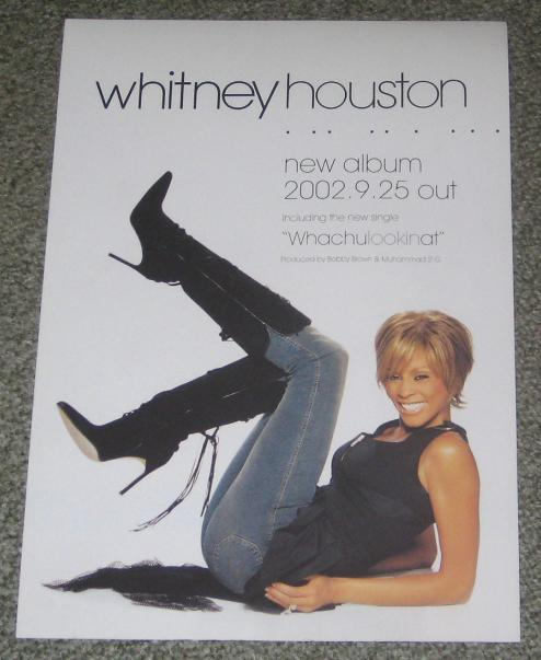 HOUSTON, WHITNEY - 2002 album release handbill - Others