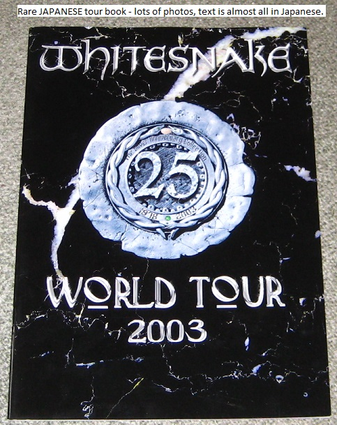 Japan 2003 Tour Book